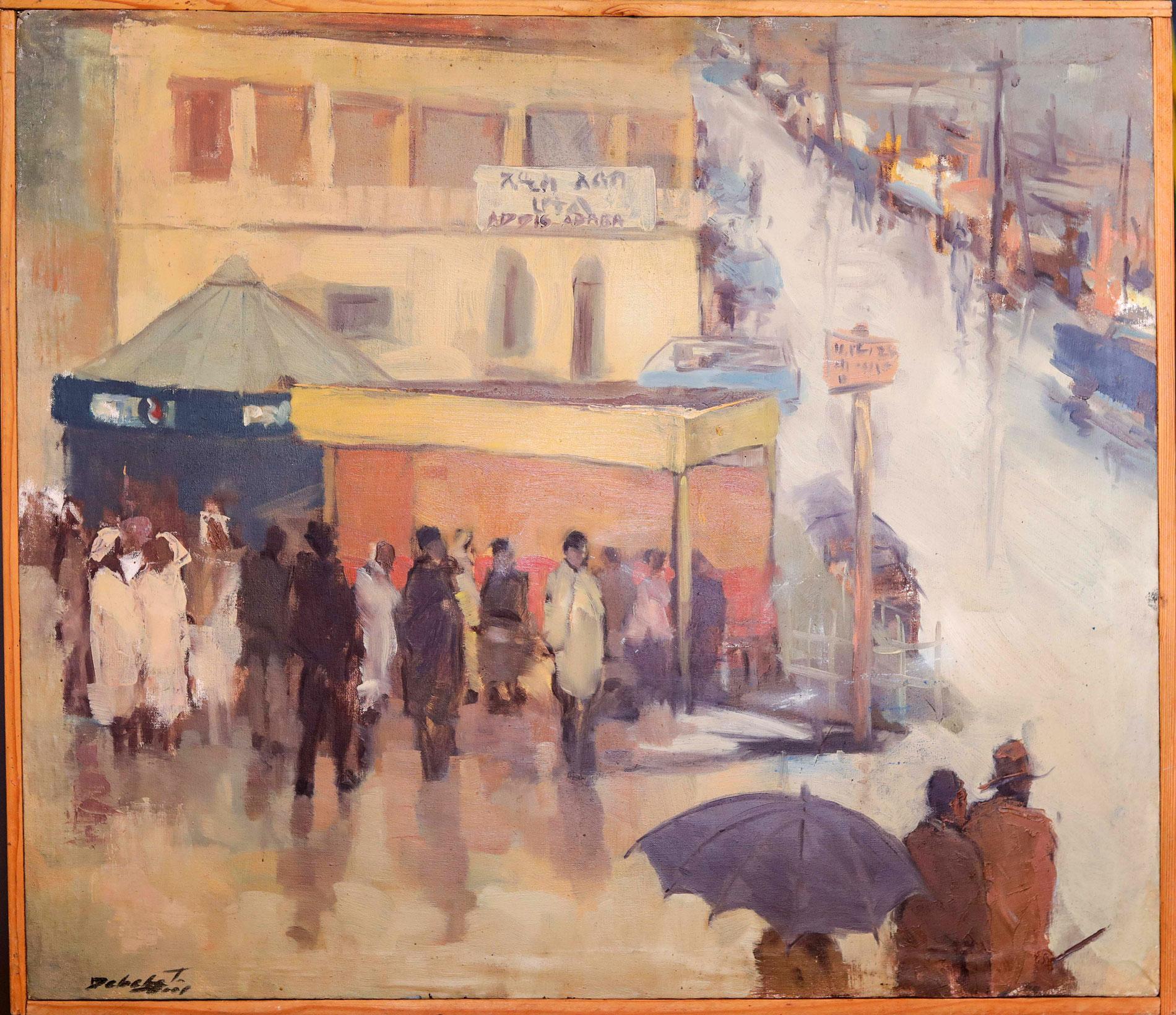 Ethiopian-Contemporary-Paintings---AEF-Collection-2019---(24)-Debebe Tesfaye