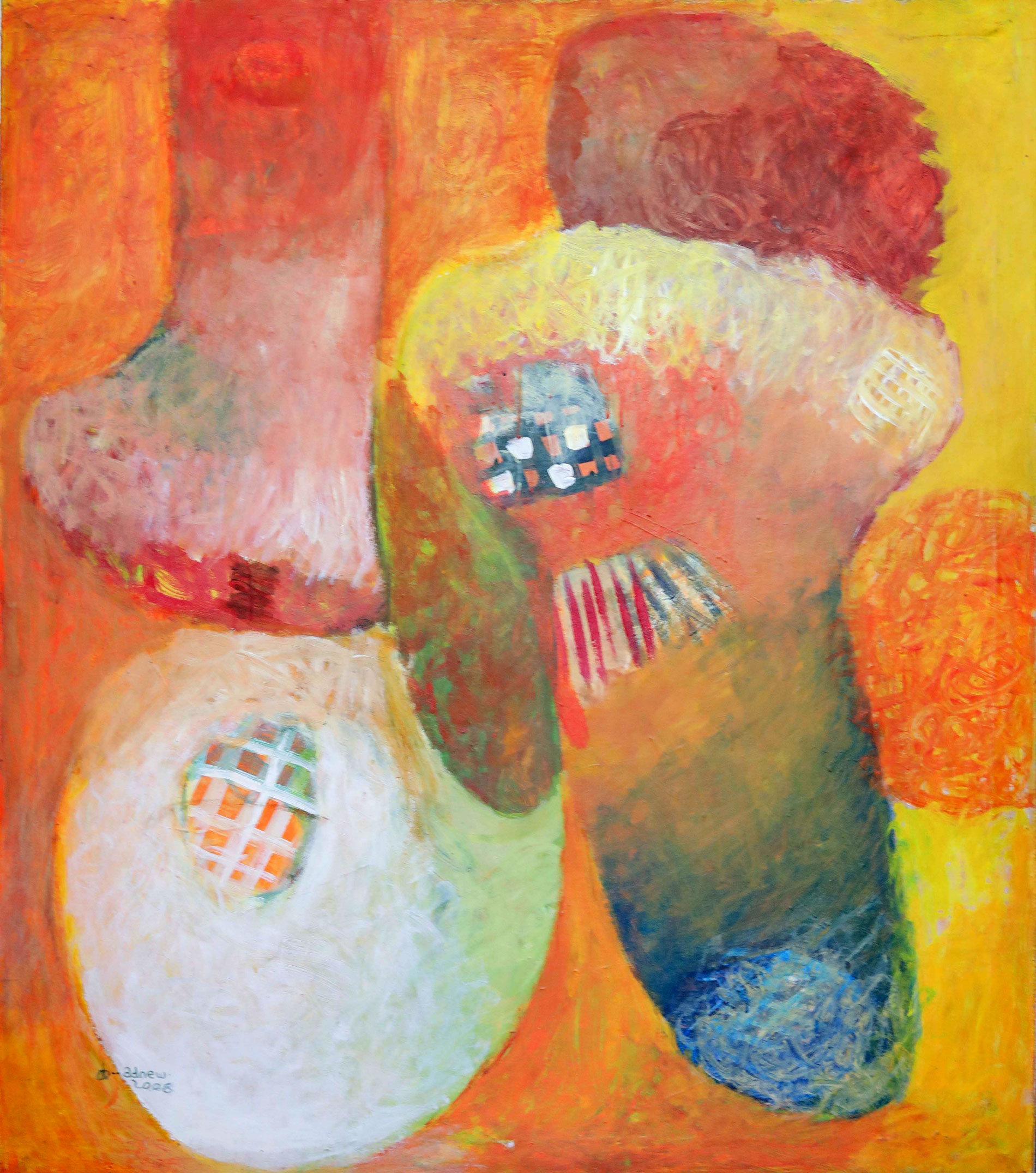 Ethiopian-Contemporary-Paintings---AEF-Collection-2019---(37)-Dawit Adinew
