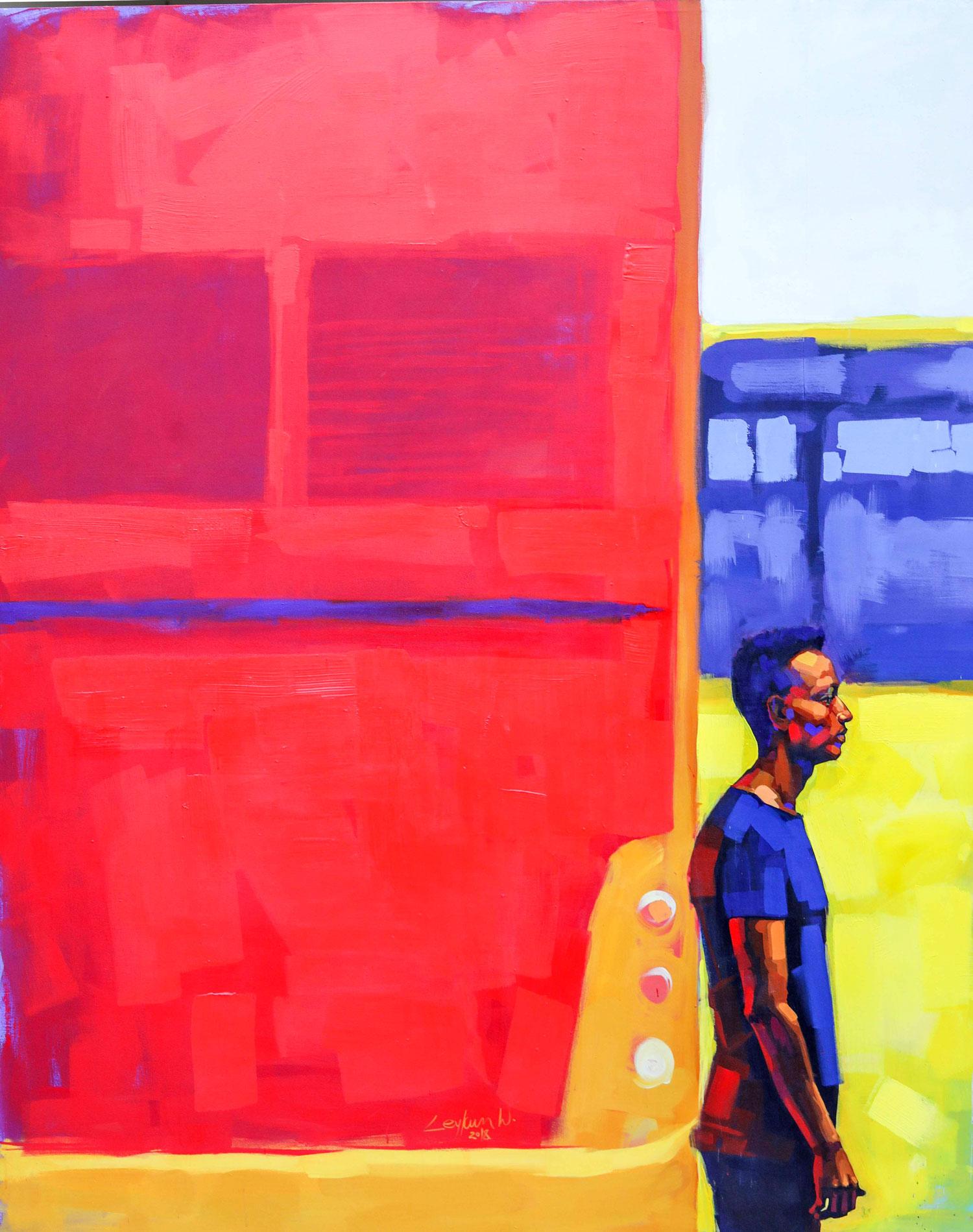 Ethiopian-Contemporary-Paintings---AEF-Collection-2019---(55)-Leykun Wondifraw