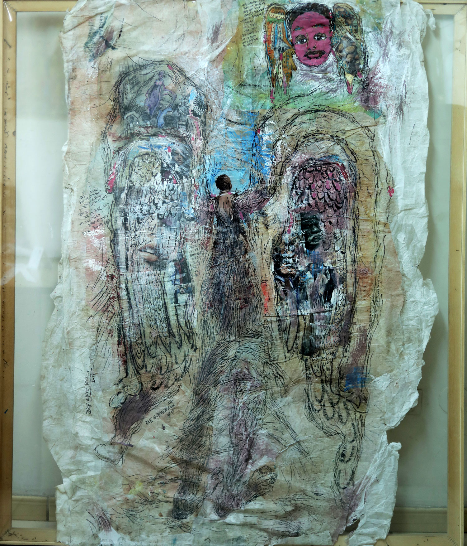 Ethiopian-Contemporary-Paintings---AEF-Collection-2019---(11)-Workneh-Bezu