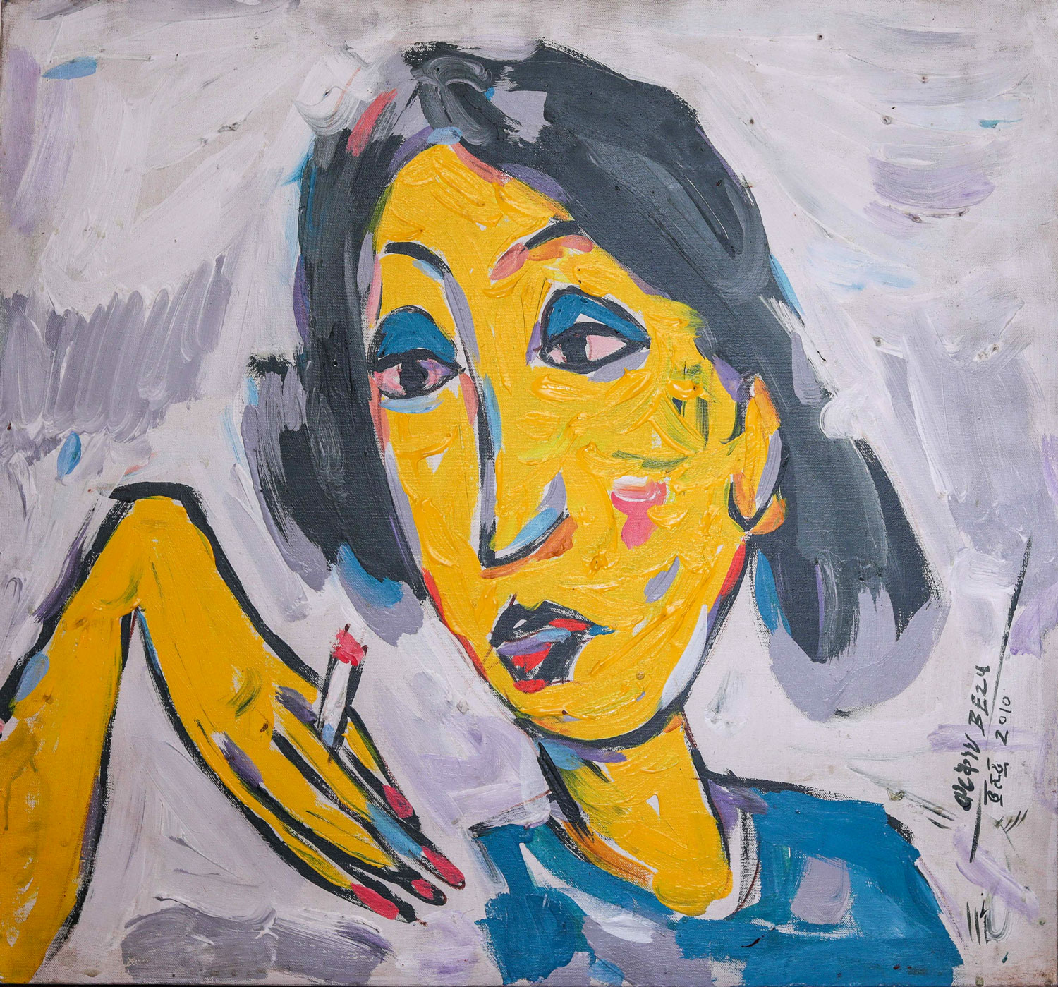 Ethiopian-Contemporary-Paintings---AEF-Collection-2019---(15)-Workneh-Bezu